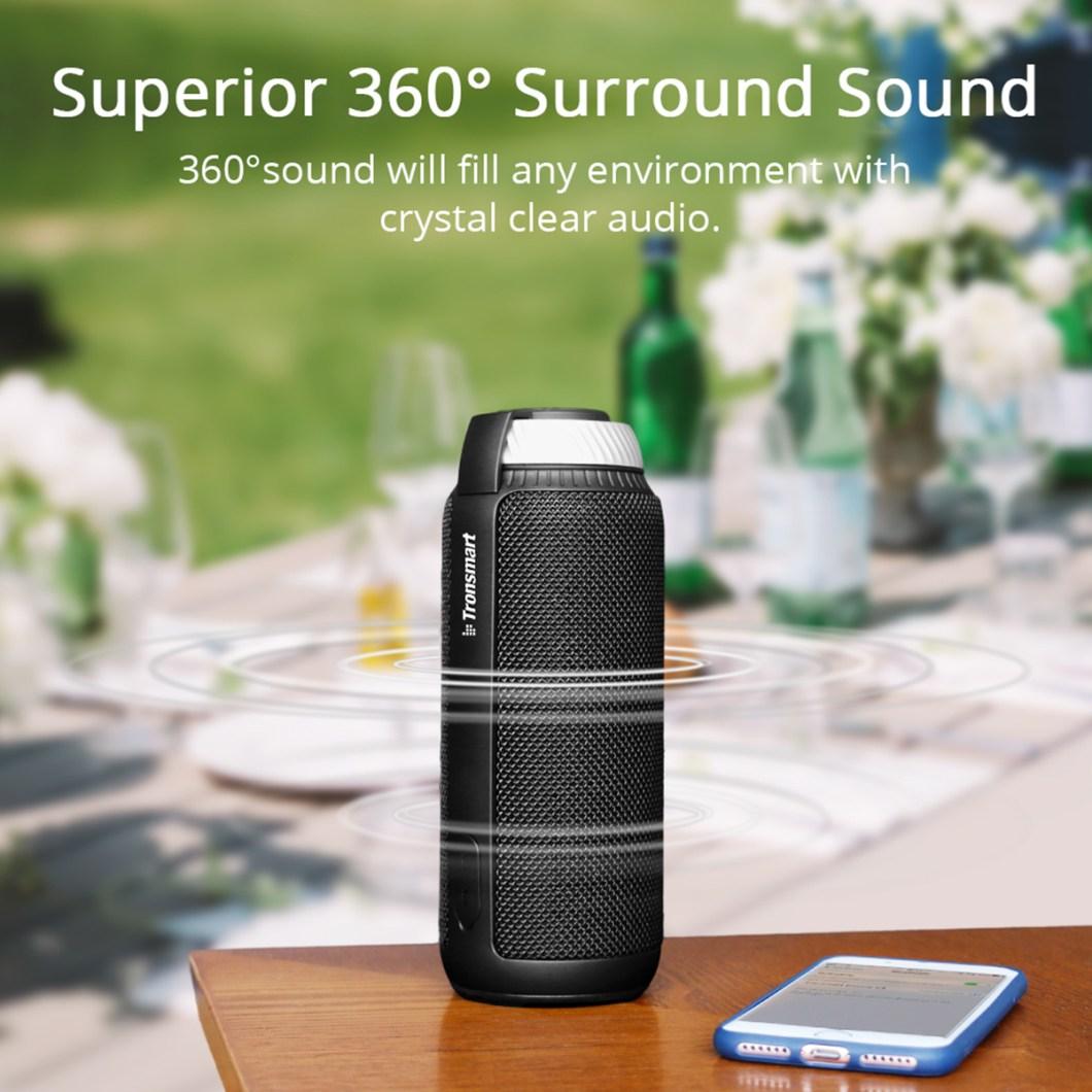 Tronsmart Element T6 Portable Wireless Bluetooth Speaker 5200mAh Stereo Outdoors Speaker 10