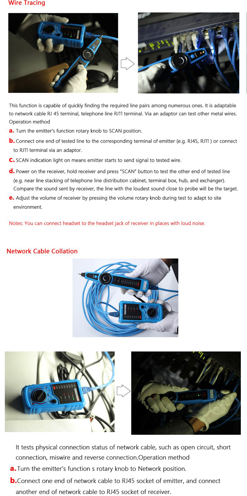 hight resolution of bside fwt11 rj11 rj45 wire tracker tracer telephone ethernet lan network cable continuity tester detector