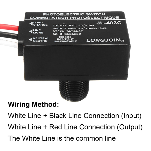 Photocell Wiring Red Black White