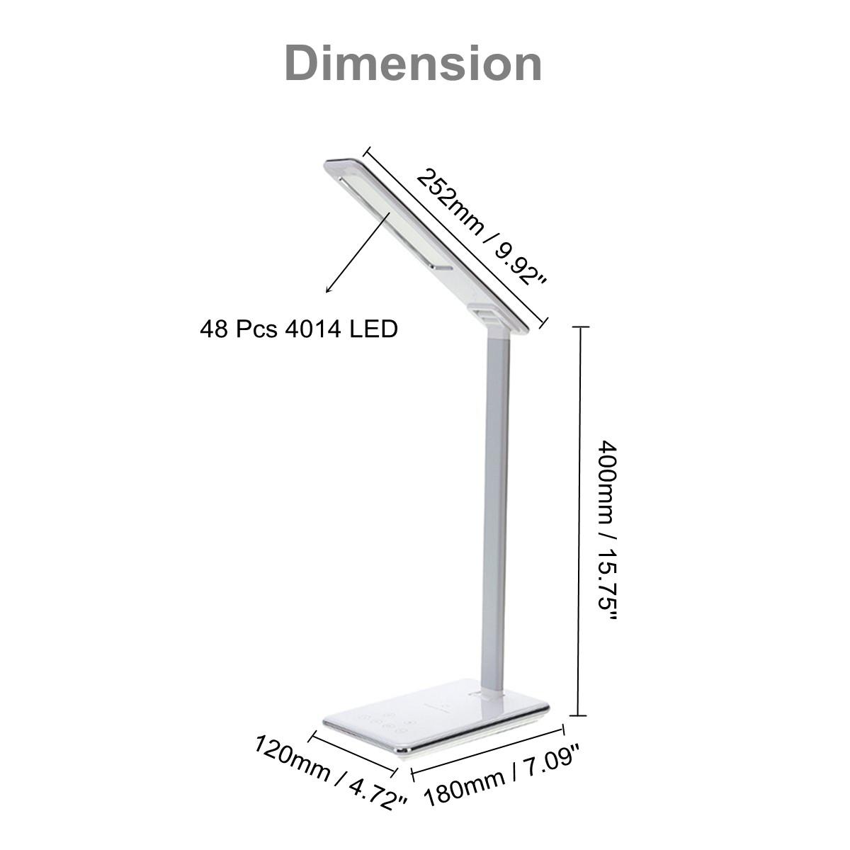 Desk Qi Wireless Charger Smart Led Lamp Phone Holder For