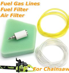 air filter fuel line fuel filter for poulan craftsman chainsaw [ 1200 x 1200 Pixel ]
