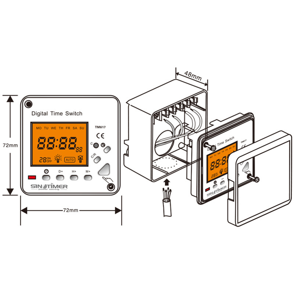 220v ac lcd display 7 days weekly digital electronic timer