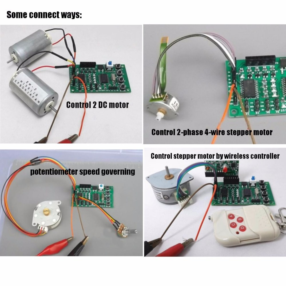 medium resolution of programmable 2 4 phase 4 5 wire stepper motor driver control board for robot