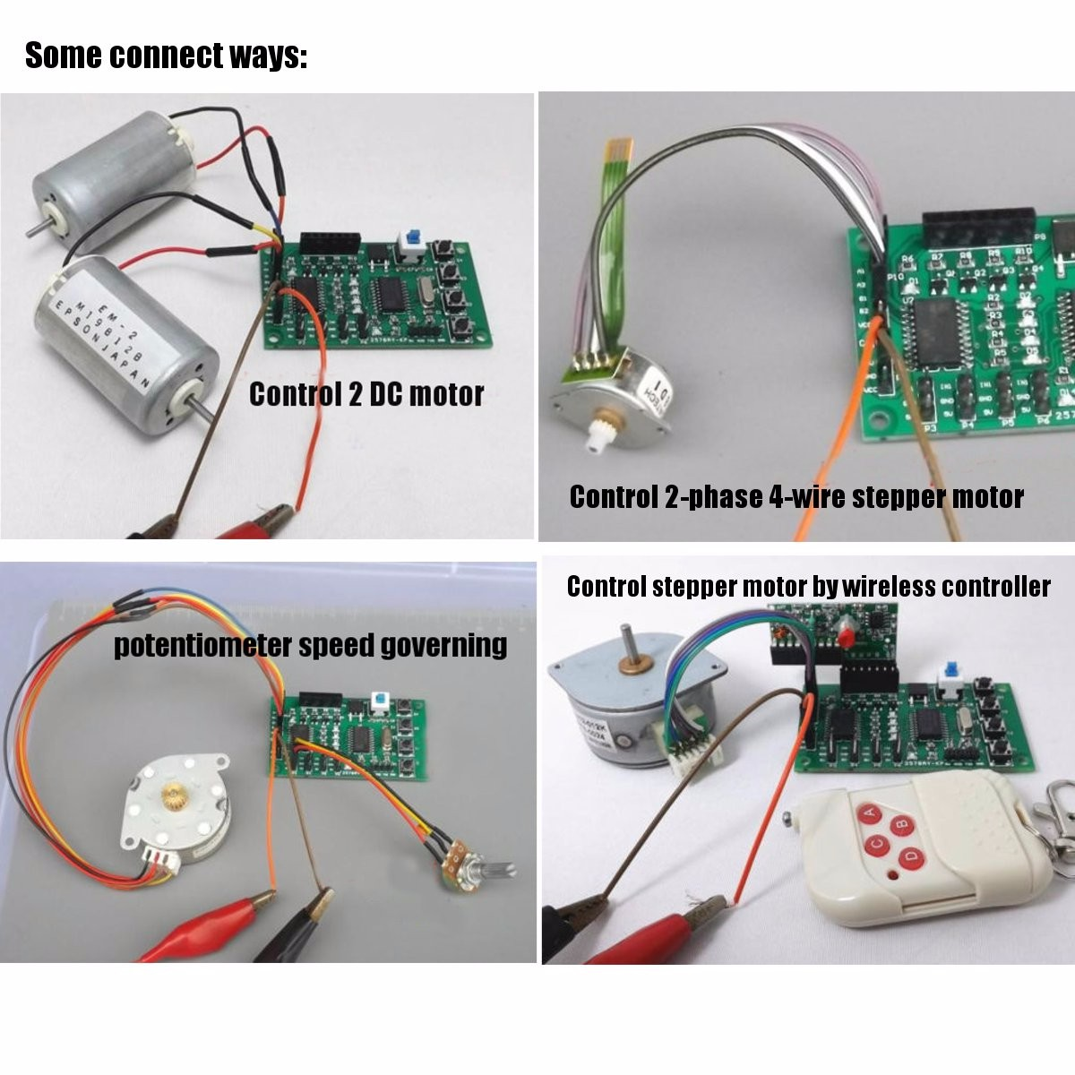 hight resolution of programmable 2 4 phase 4 5 wire stepper motor driver control board for robot