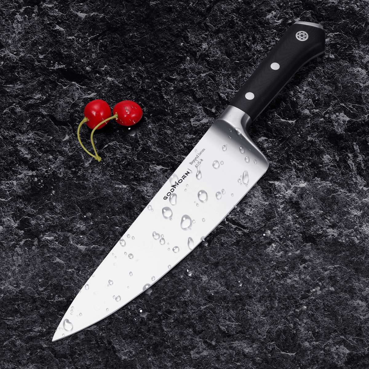 professional kitchen knives free standing godmorn chef knife 8 inch aus japanese stainless steel with g10