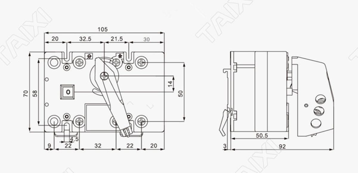 taixi® hgl-63 63a 3p/4p household circuit breaker isolate