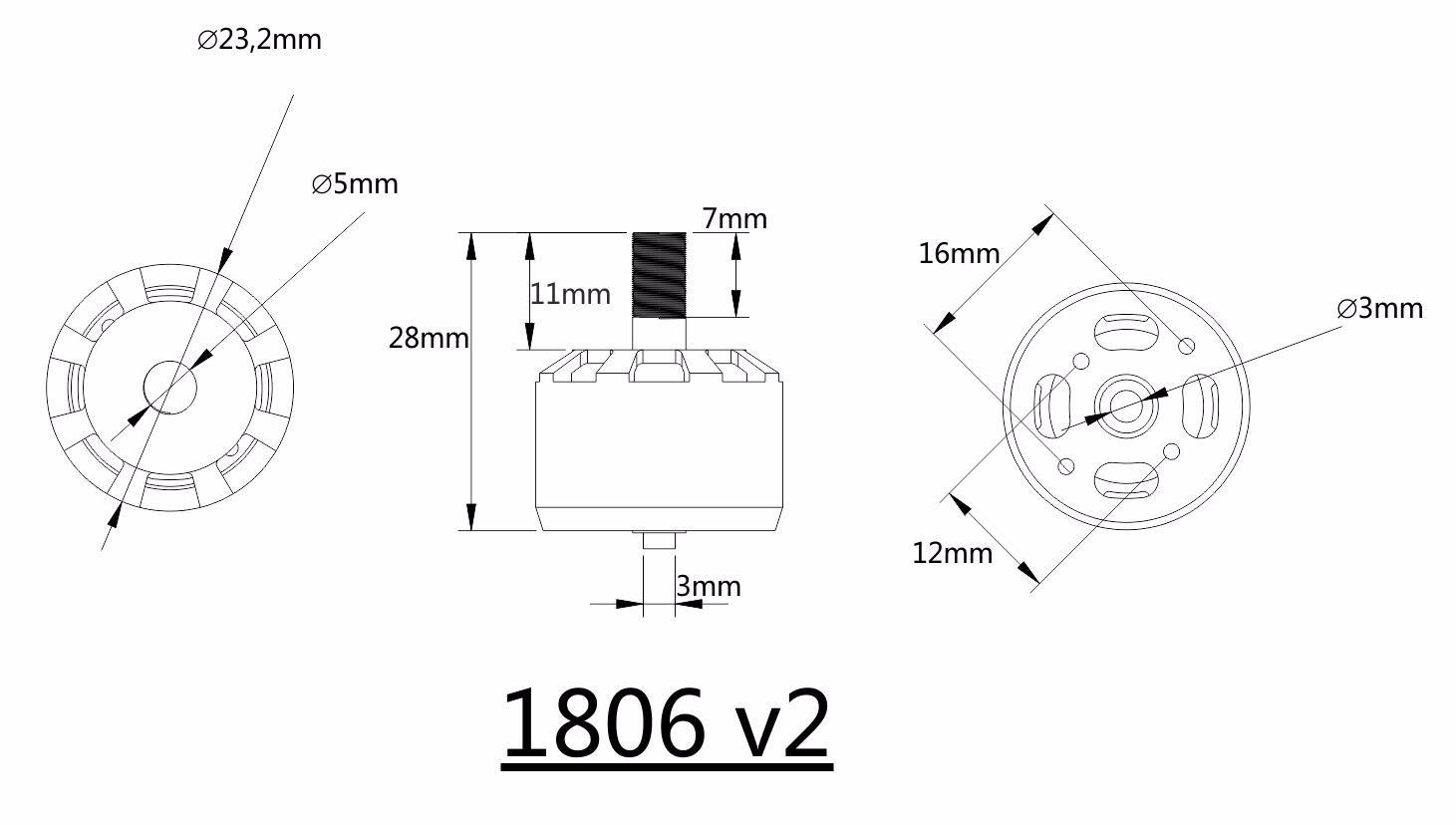 Kingkong V2 2 4s Kv Cw Ccw Brushless Motor For Rc