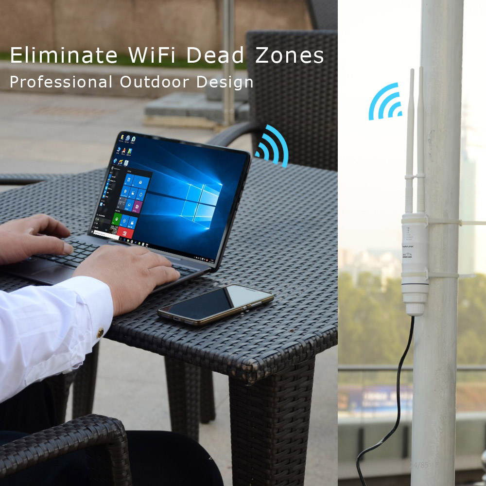 Wavlink AC600 2.4G/5G High Power Outdoor Waterproof WIFI Router/AP Repeater 2 Antennas 28
