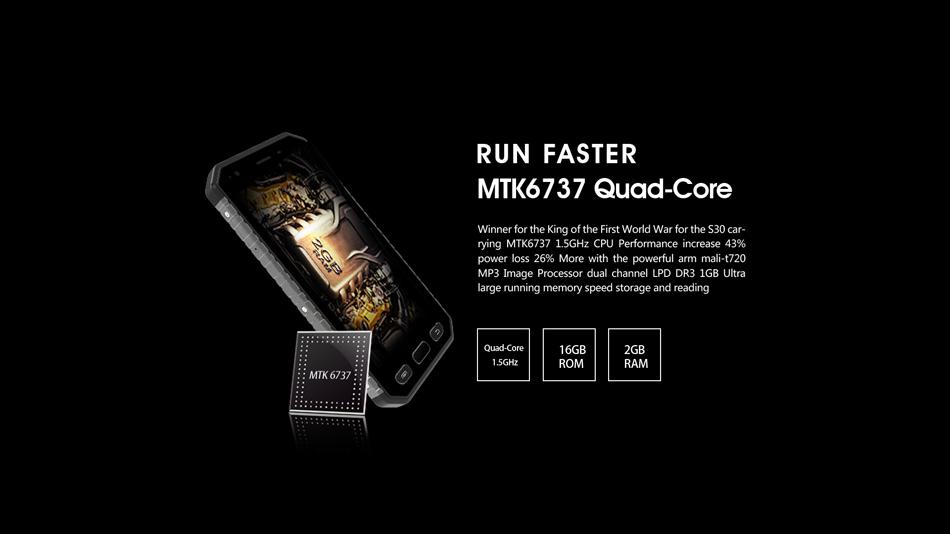 E&L S30 Global Version 4.7 Inch IP68 Waterproof Dustproof 2GB RAM 16GB ROM MT6737 4G Smartphone