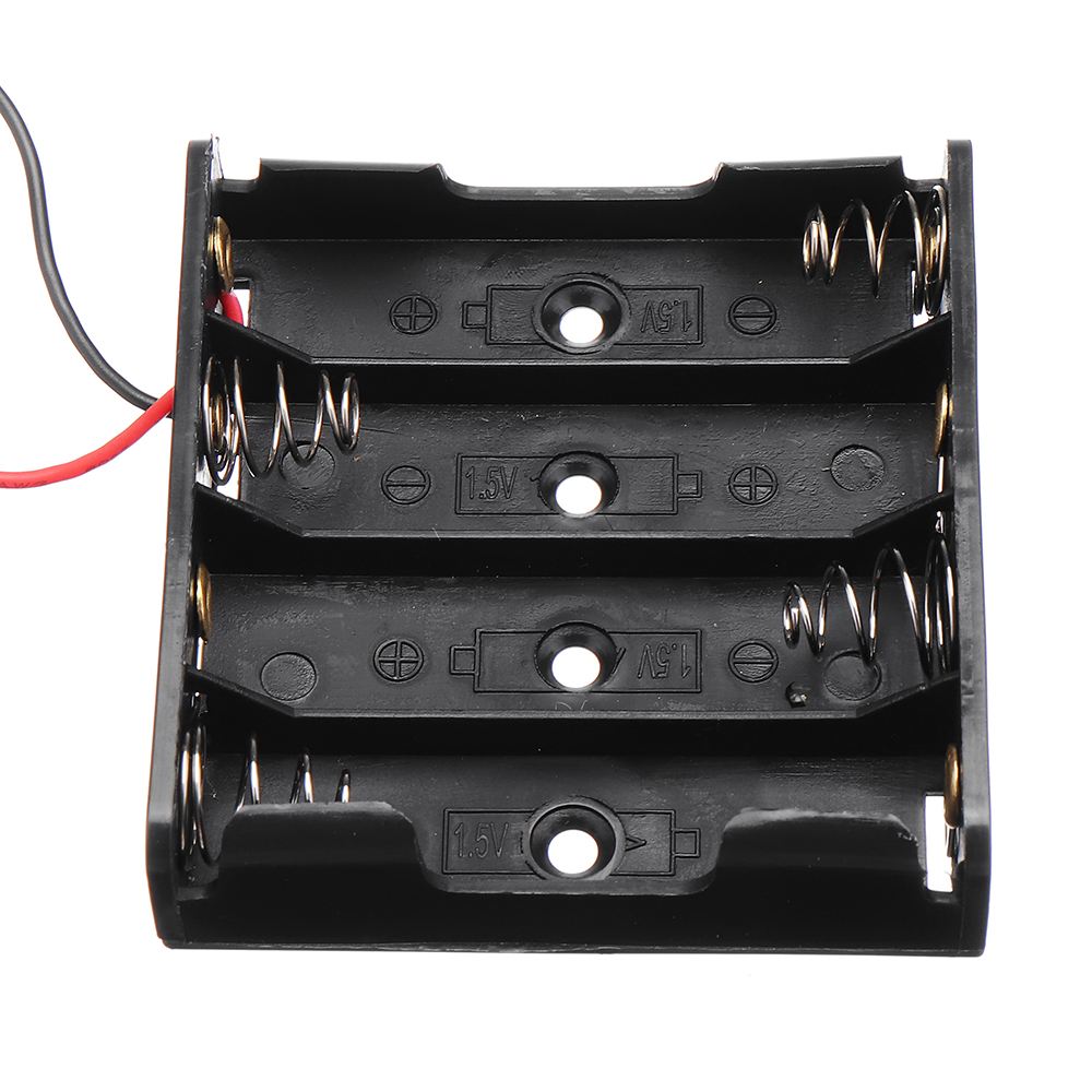 3pcs DIY 6V 4-Slot / 4 x AA Battery Holder With Leads 11