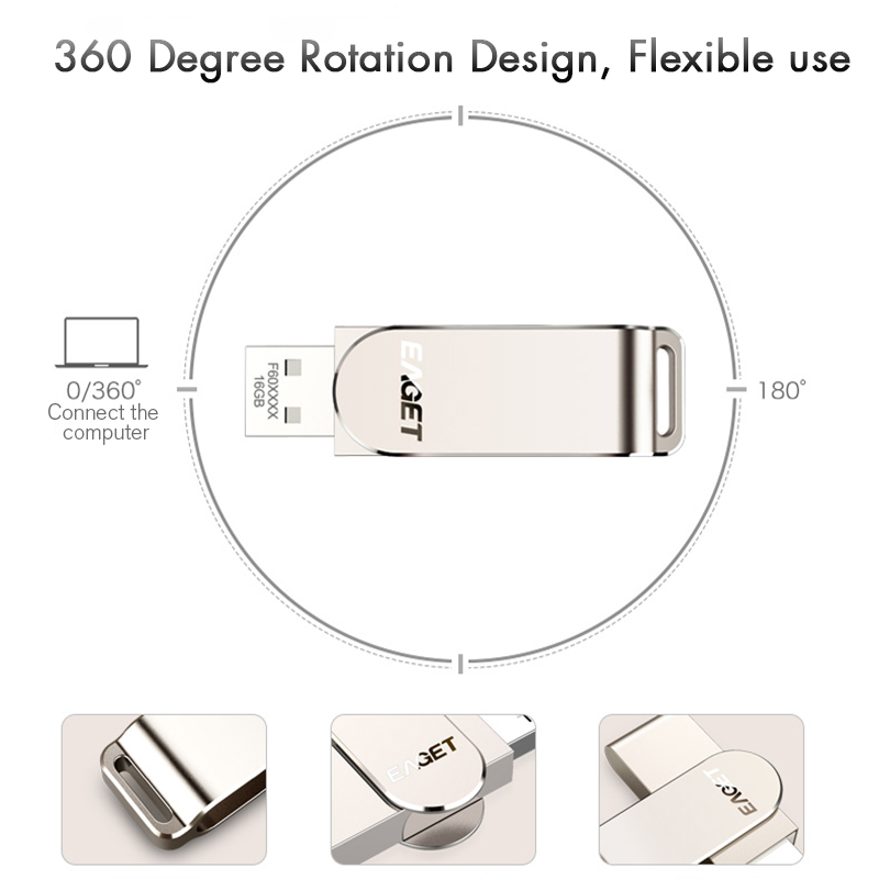 EAGET F60 128G USB 3.0 High Speed USB Flash Drive Pen Drive USB Disk 20