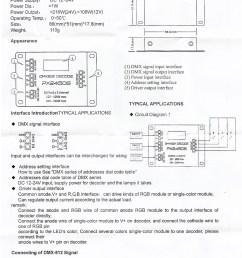 px24506 dmx 512 decoder driver amplifier controller for rgb led strip light dc12v 24v [ 1000 x 1460 Pixel ]