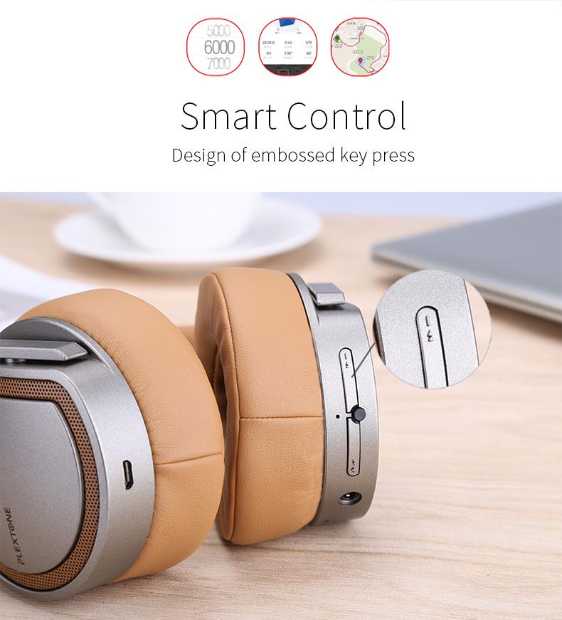 Plextone BT270 Wireless Bluetooth Headphone 800mAh 8G RAM MP3 Heavy Bass Headset for iPhone Samsung 15