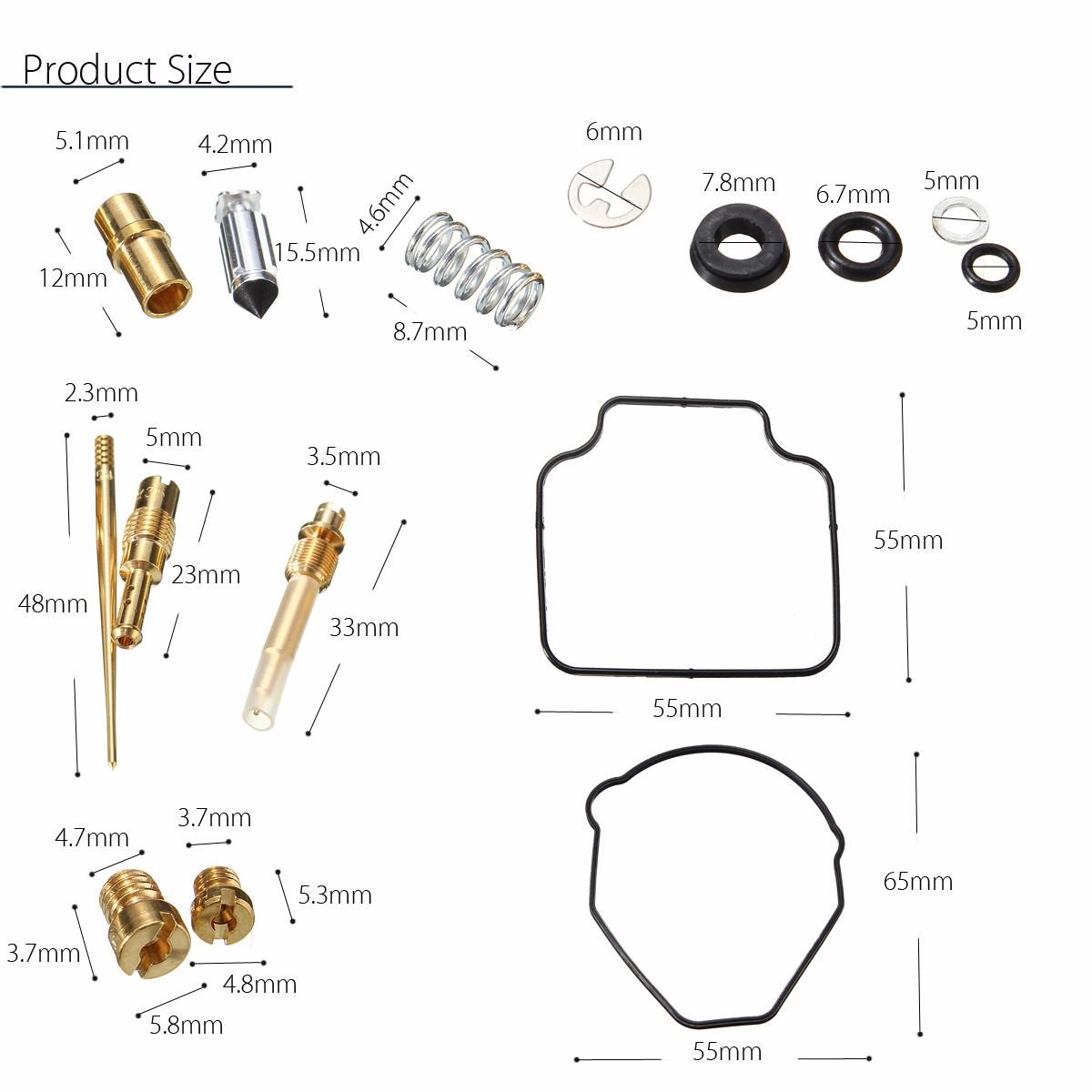 carb repair kit fourtrax carburetor rebuild tools set for
