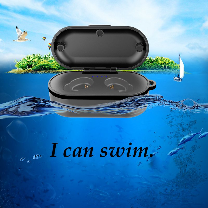 [Bluetooth 5.0] Wireless Earphone TWS HIFI IPX8 Waterproof Noise Cancelling Sport With Charging Case 13