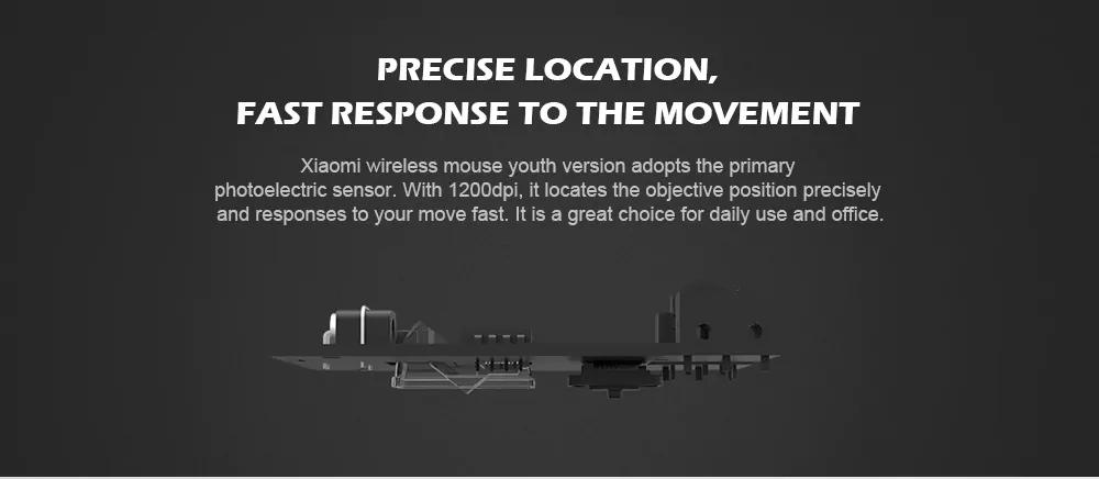 Original XiaoMi 2.4G Wireless Mouse 1200dpi Portable Mouse 13