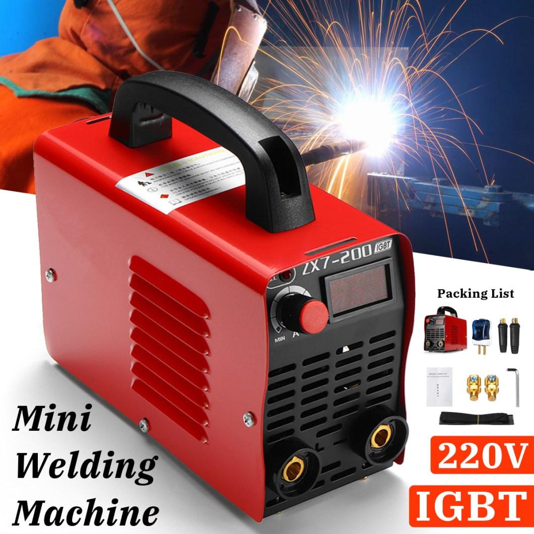 ZX7-200 220V Handheld Mini MMA Electric Welding Tool Digital 20-200A Inverter ARC Welding Machine 34