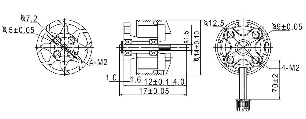 Happymodel EX1105 1105 5200KV 3-4S Brushless Motor for