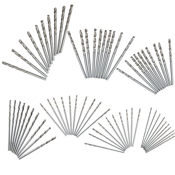 10Pcs Micro HSS Twist Drilling Bit Straight Shank for