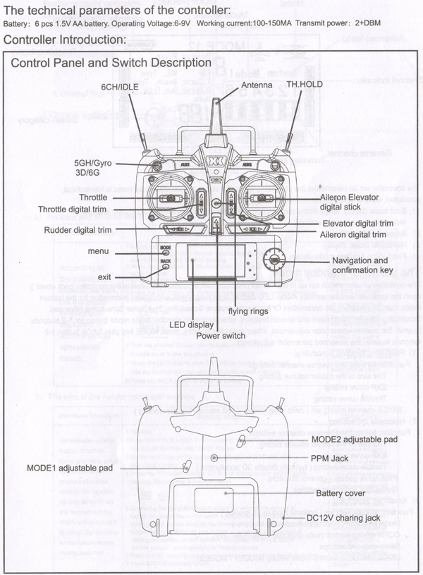 xk k100 k110 k120 k123 124 rc helikopter transmitter xk.2