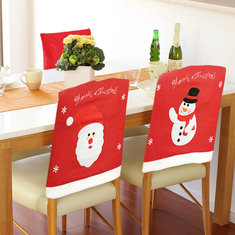 chair cover christmas decorations hanging pillow buy cheap from banggood santa claus event party snowman dinner chairs home decor