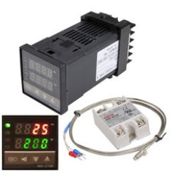 Pid Temperature Controller Kit Wiring Diagram Car Exhaust System Digital Buy Cheap 110 240v 0 1300 Rex C100 Alarm