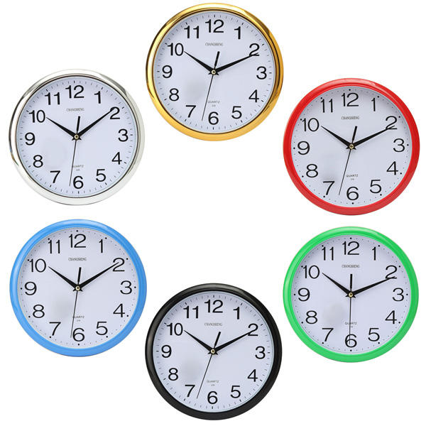 kitchen wall clocks luxury cabinets six colors vintage round modern home bedroom time clock customer also viewed