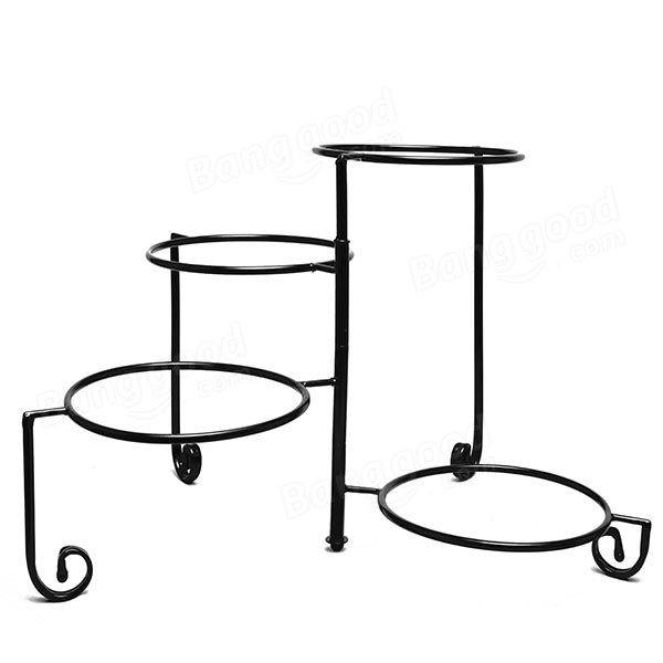 Euro Iron 4 Tiers Rotatable Cake Snack Plate Stand Holder