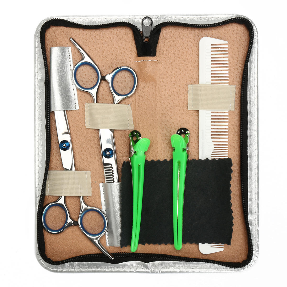 6 8 Inch Salon Hair Cutting Scissors Comb Clips Barber Kit