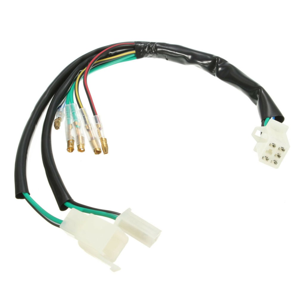 medium resolution of electric wiring harness loom for 50cc 90cc 110cc 125cc 140cc pit details about 50cc 90cc 110cc 125cc 140cc pit dirt bike wiring loom