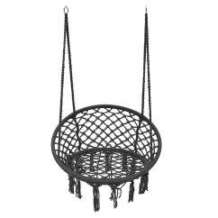Hanging Hammock Chair Folding Saucer Outdoor Camping Mesh Single Swing Cushion Max Load Bearing 120kg Cod