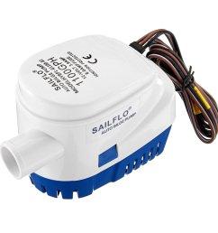 12v 1100gph bilge water pump submersible float switch cod [ 1200 x 1200 Pixel ]