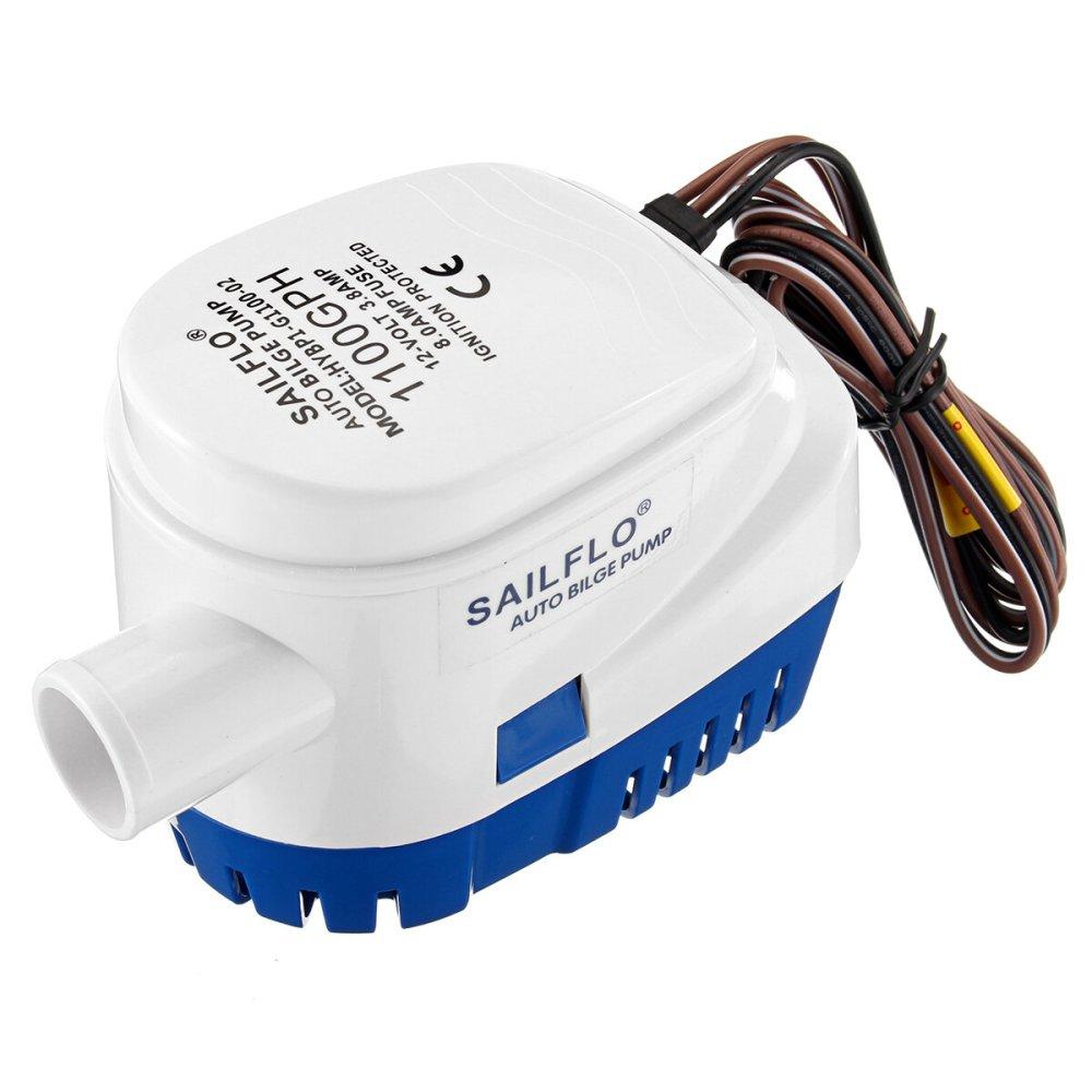 medium resolution of 12v 1100gph bilge water pump submersible float switch cod