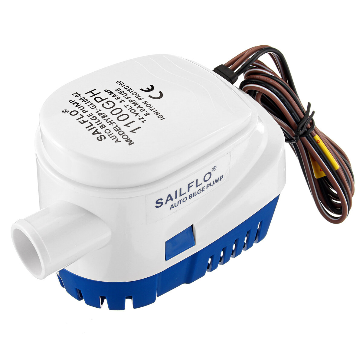 hight resolution of 12v 1100gph bilge water pump submersible float switch cod