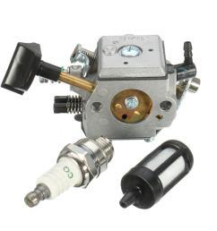carburetor with fuel filter spark plug for stihl br400 br420 br320 br380 backpack blower [ 1200 x 1200 Pixel ]