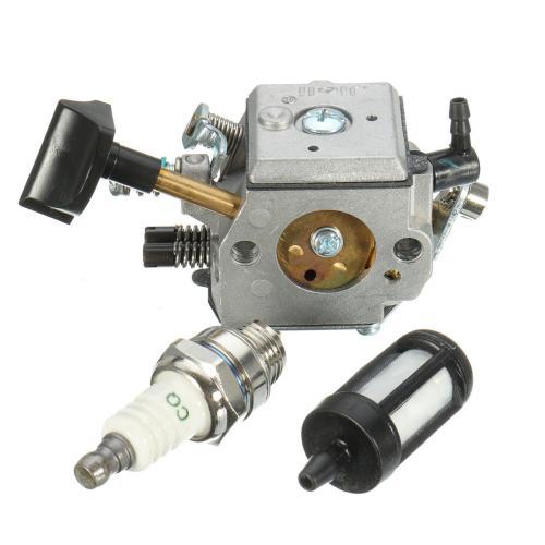 small resolution of carburetor with fuel filter spark plug for stihl br400 br420 br320 br380 backpack blower