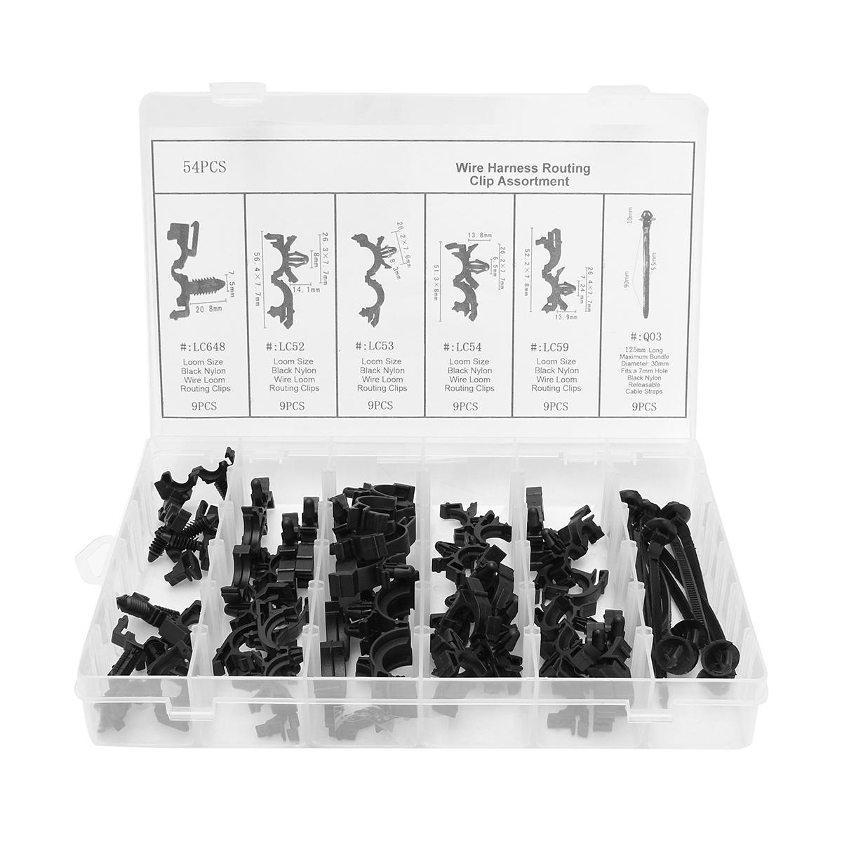 hight resolution of body wiring harness car fastener clip convoluted assortment