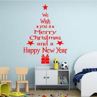 Removable Merry Christmas Tree Wall Window Sticker Home ...
