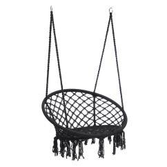 Bedroom Hanging Chair For Sale Webbing Straps Outdoor Hammock Woven Rope Seat Indoor
