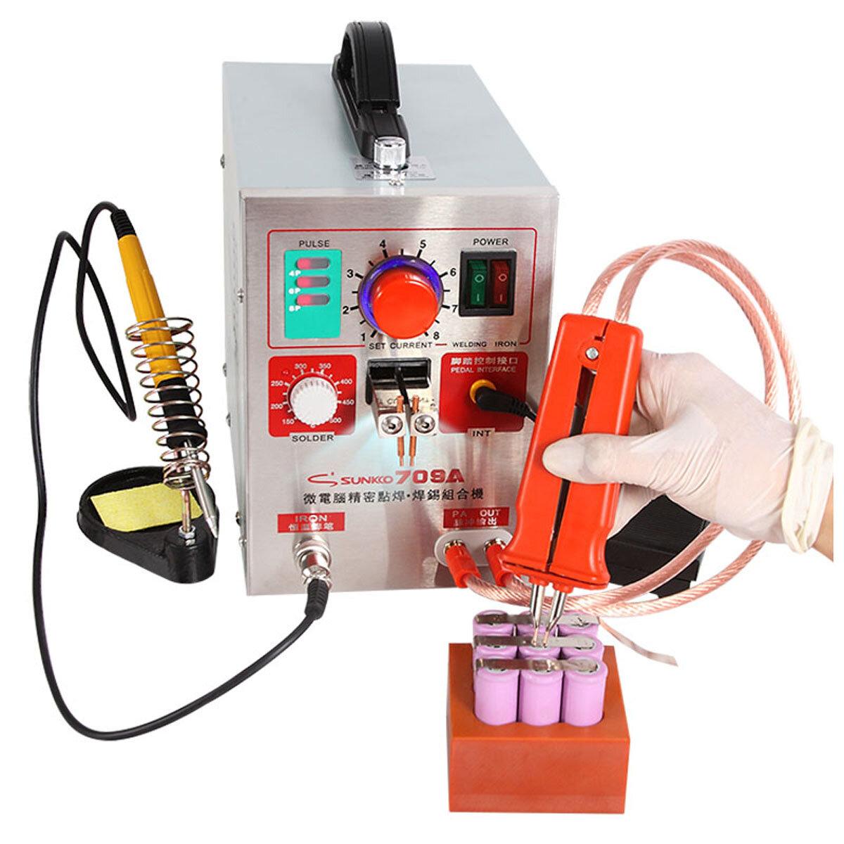 hight resolution of sunkko 709a 1 9kw spot weld er soldering station welding machine universal welding pen