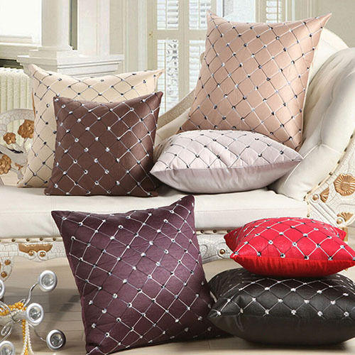 sofa box cushion covers bright colored pillows home bed decor multicolored plaids throw pillow case square customer also viewed
