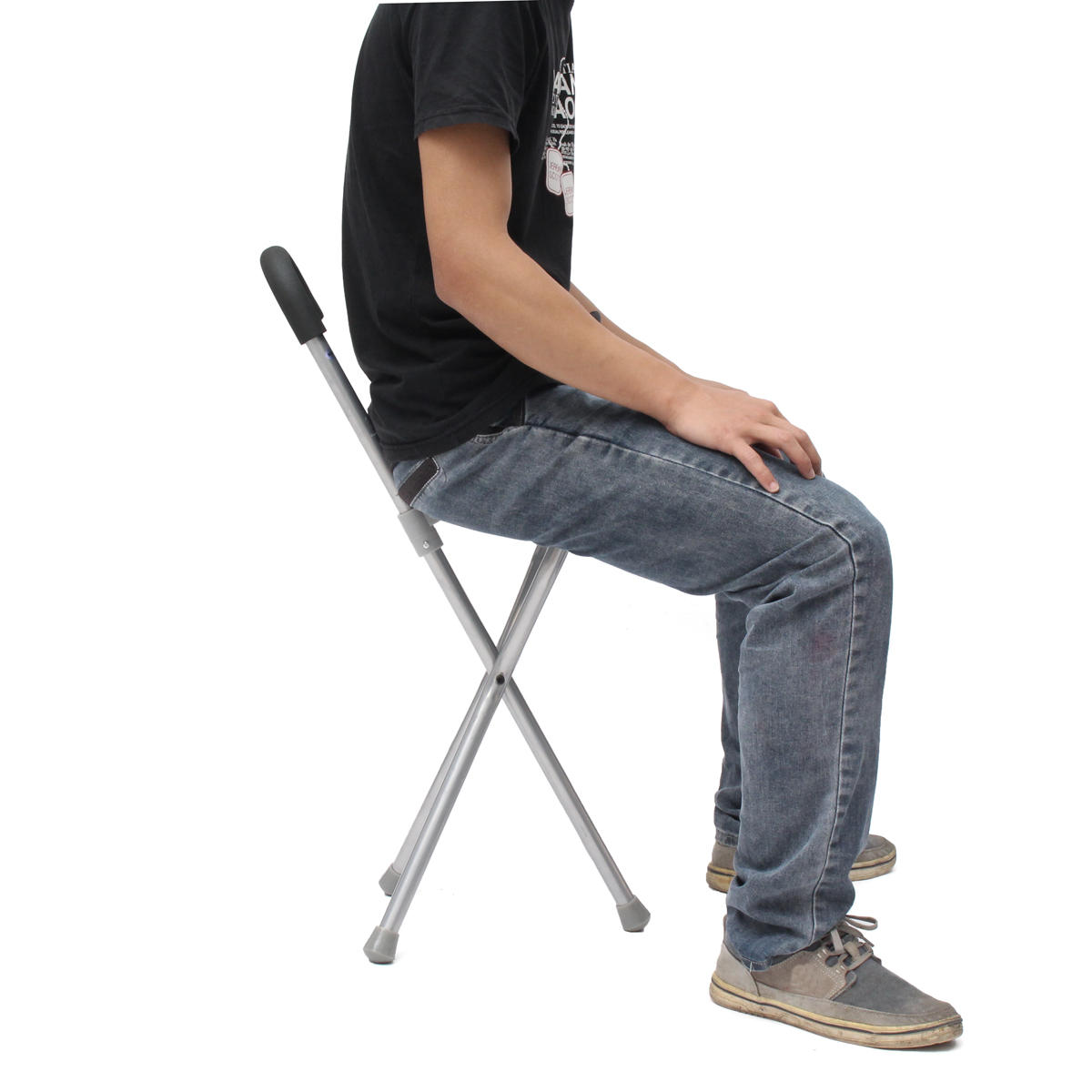 Walking Chair Ipree Outdoor Travel Folding Stool Chair Portable Tripod