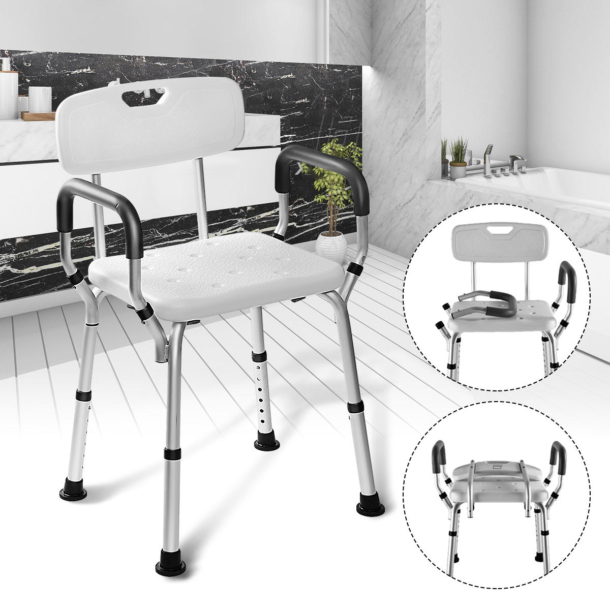 folding chair for bathroom target counter height chairs adjustable medical shower bathtub bench bath seat aid customer also viewed