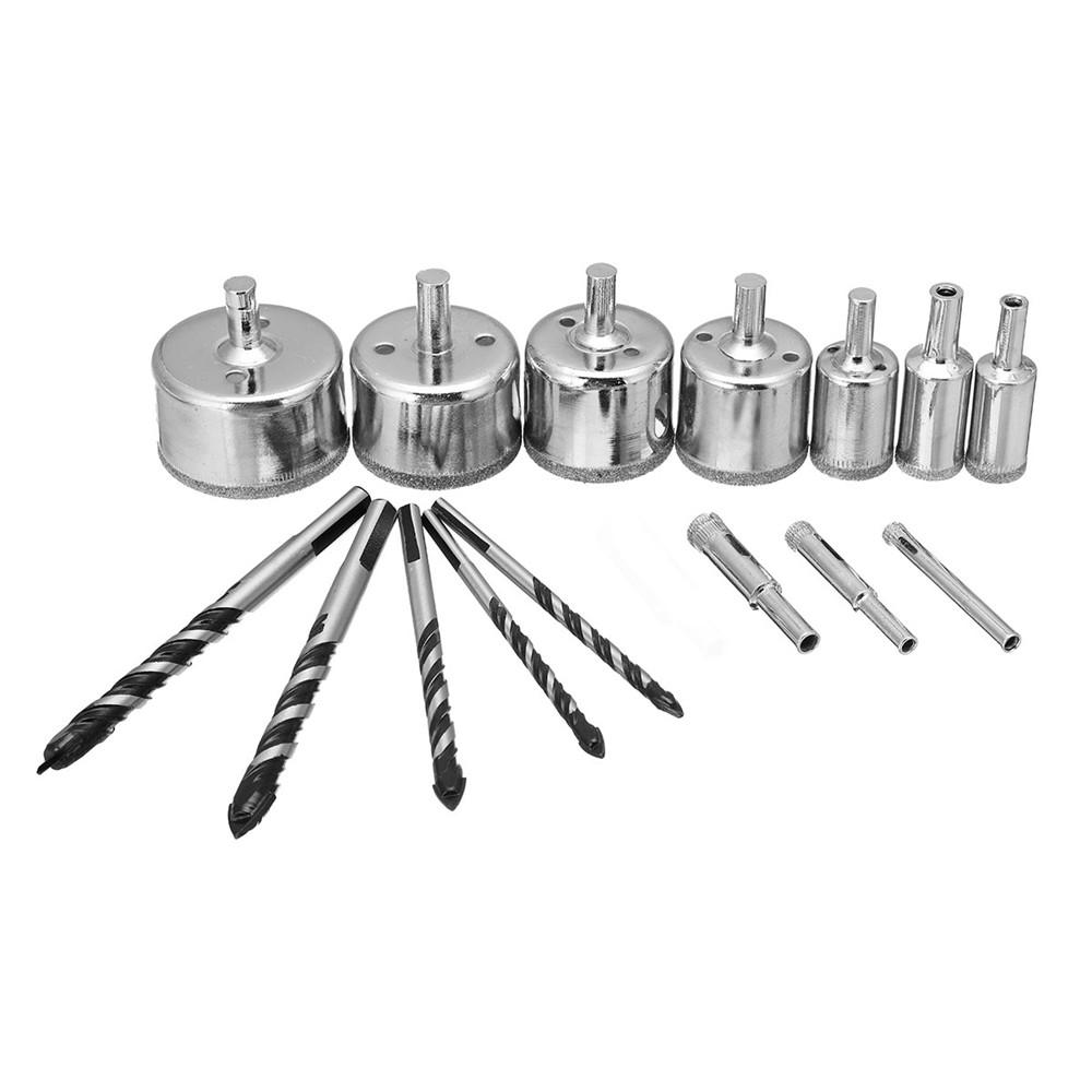 meco 15pcs diamond tool drill bits hole saw cutter tipped