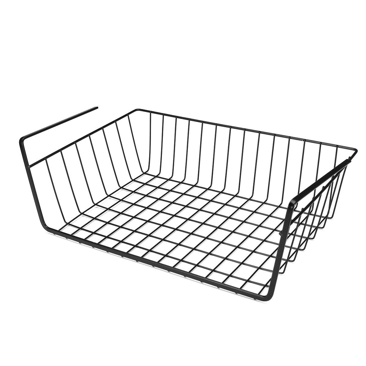under hanging shelf wire storage baskets kitchen pantry