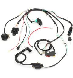 wiring harness loom solenoid coil rectifier cdi for 50cc 70cc 90cc 110cc 125cc atv quad dirt [ 1200 x 1200 Pixel ]