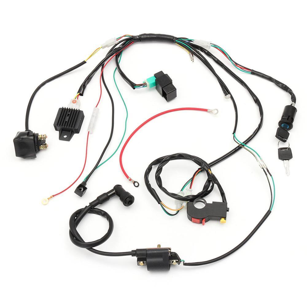 medium resolution of wiring harness loom solenoid coil rectifier cdi for 50cc 70cc 90cc 110cc 125cc atv quad dirt