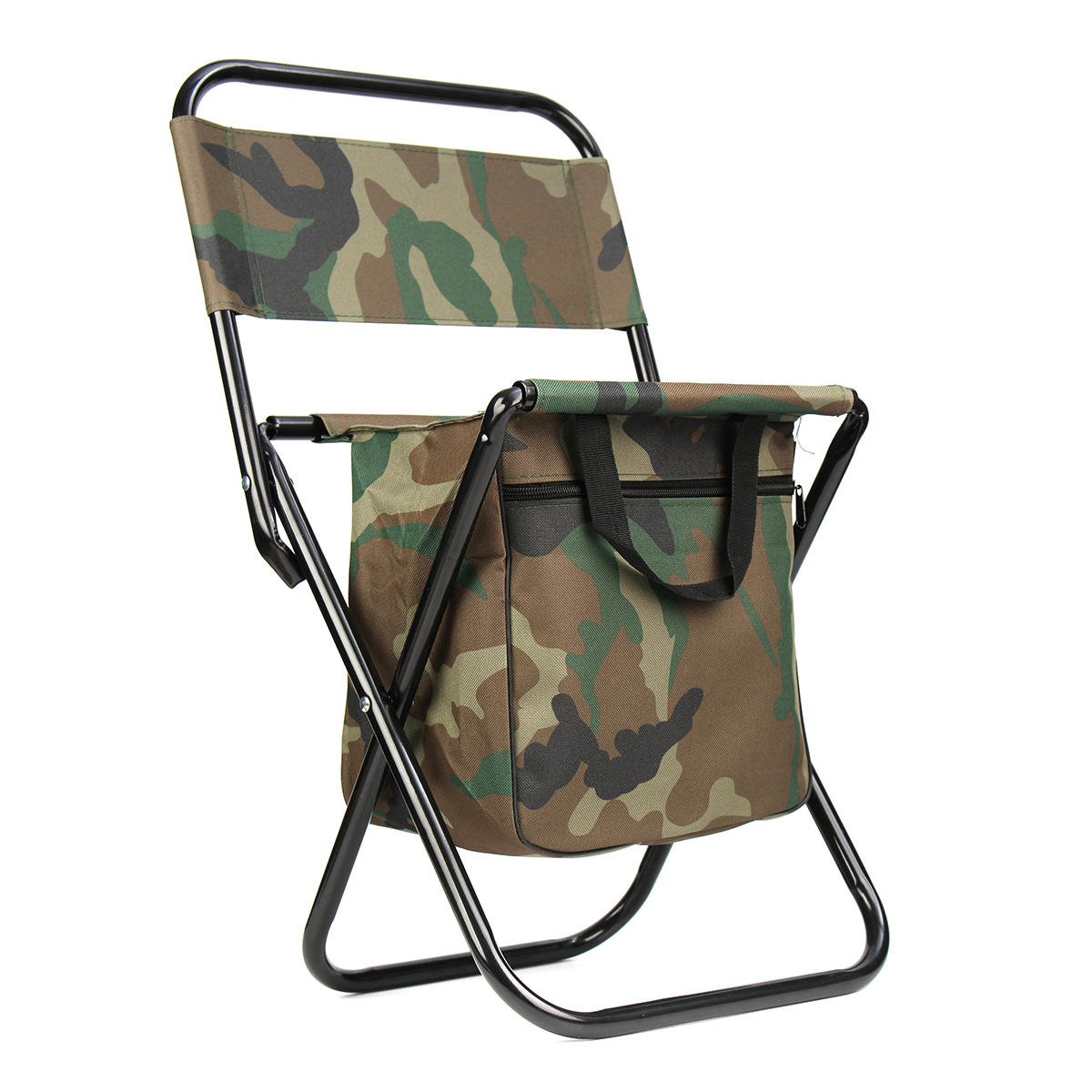 Camping Rocking Chair Camouflage Folding Chair Outdoor Camping Fishing Lightweight Foldable Chair With Bag