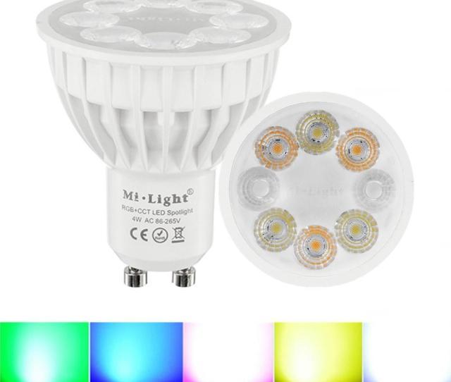 Dimmable Gu10 4w Mi Light 2 4g Wireless Rgbcct Led Spotlight Lamp Bulb Ac86 265v Cod