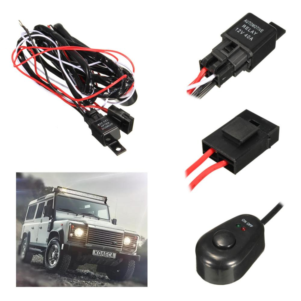 medium resolution of 2 5m led work light relay wire harness loom fuse switch dc12v 40a for offroad suv